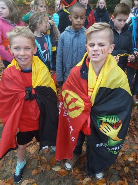 3de leerjaar zingt het Belgisch volkslied