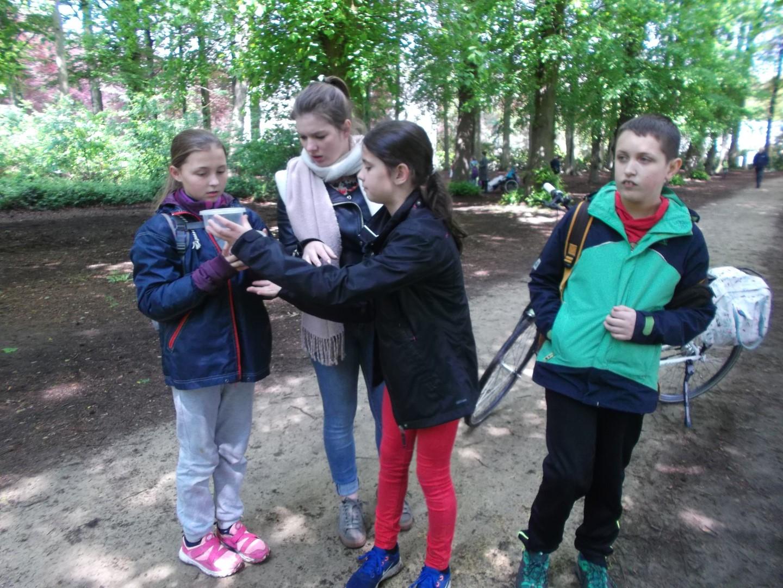 Leerwandeling van het 4de , 5de en 6de leerjaar onder leiding van studenten Thomas More.