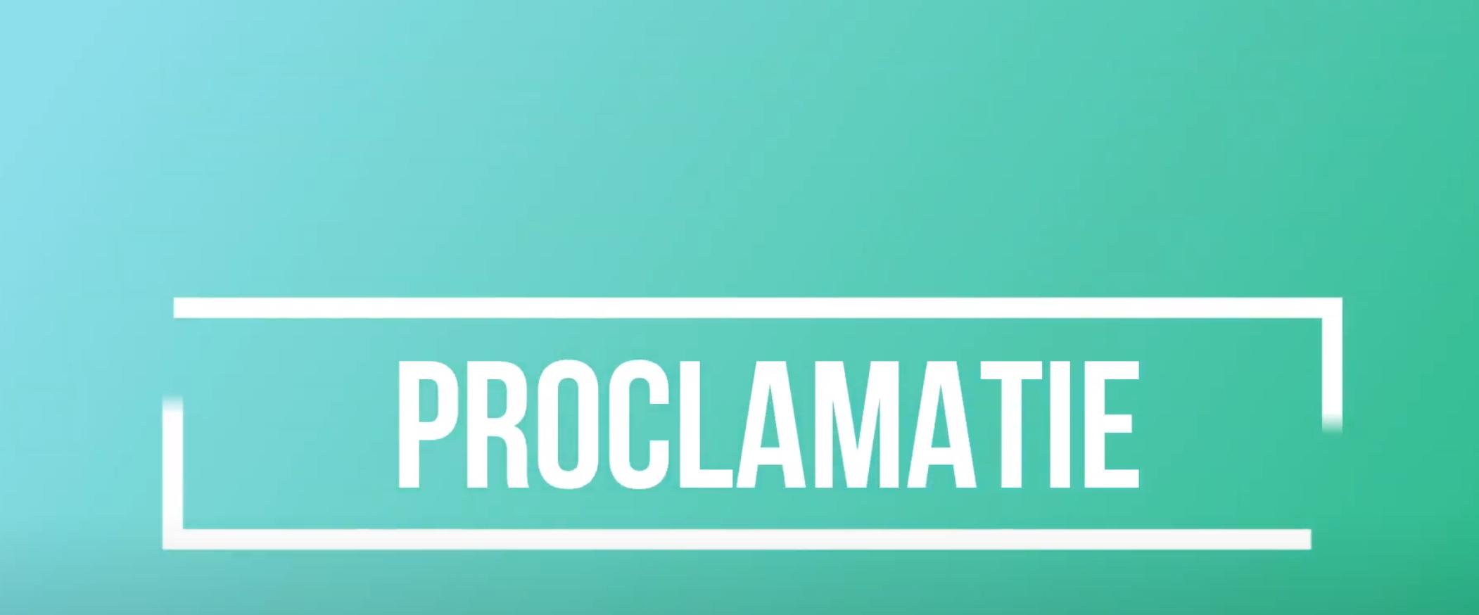 Proclamaties 6de leerjaren